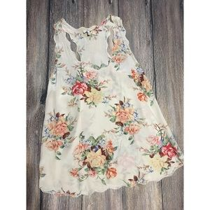 """Joie """"Montreal"""" Floral Scalloped Top"""